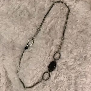 Lia Sophia Long Silver and stone Necklace!